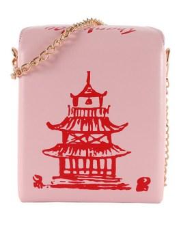 Lolita Handbag Tower Print PU Leather Cross Body Bag