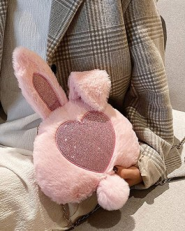 Sweet Lolita Bunny Faux Fur Cross Body Bag
