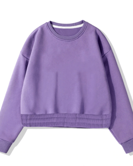 Batwing Long Sleeve Pullover Sweatshirt