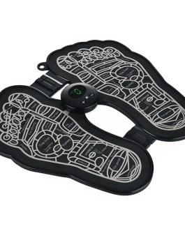 Electric EMS Foot Massager Foldable Pad Feet Muscle