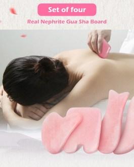 Natural Rose Quartz Jade Stone Guasha Massage Tool