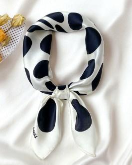 Fashion Dot Print Neck100% Silk Scarf