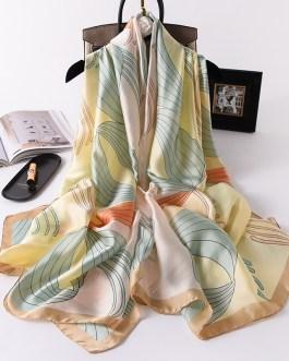Fashion Floral Printed Silk Scarves