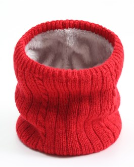 Knitted solid Collar Neck Scarf