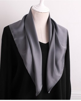 Luxury Fashion Pure Color Silk Scarf