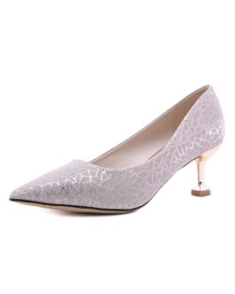 Pointed Toe Stiletto Heel Chic Sequined Cloth Medium Width Pumps