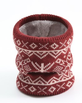 Unisex Warm Knitted Collar Ring Neck Christmas Scarfs