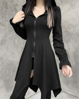 Hoodies Gothic Cotton Top Retro Dress
