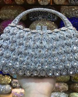 Vintage Crystal Diamond Party Handbag Banquet Purse