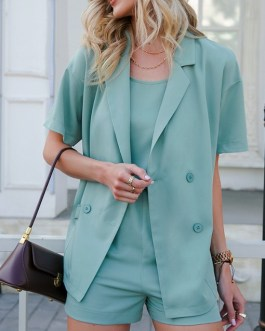 Casual Camisole Three Piece Pants Suits