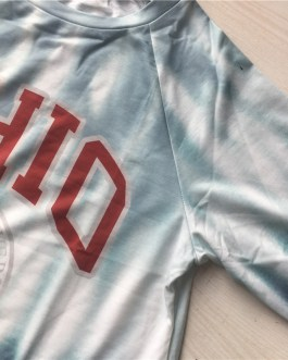 Fashion Round Neckline Letter Print Long Sleeve Sweatshirt