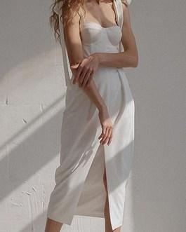 Sexy bandage strapless dress