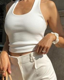 Sexy sleeveless crop Slim tops