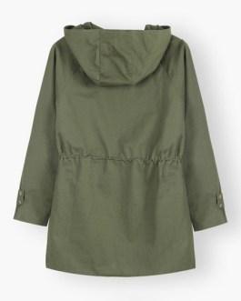 Buttons Street Wear Casual Hooded Jacket