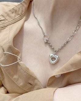 Fashion Hollow Love Heart Pendant Necklace