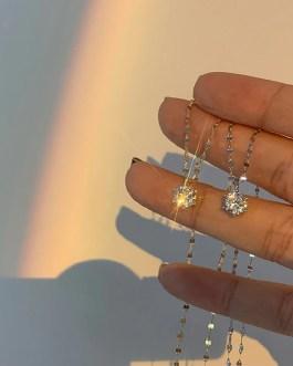 Hexagonal Zircon Pendant Necklace Gorgeous Jewelry
