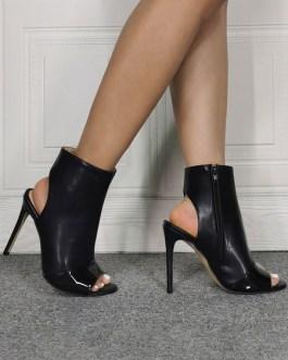 Sandal Peep Toe Stiletto Slingbacks Ankle Boots