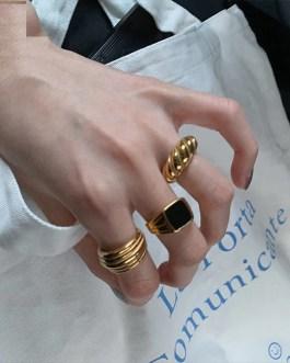 Striped Zircon Glossy Thread Fashion Temperament Classic Ring