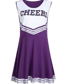 Cheer Leader Costume Print Mini Dress