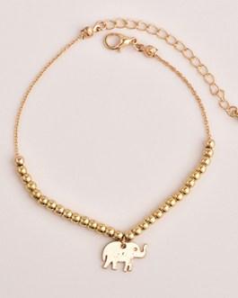 Elephant Charm Star Charms Three Piece Ankle Bracelet Set