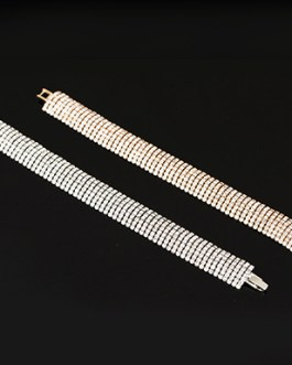 Pavee Rhinestone Cuff Bracelet