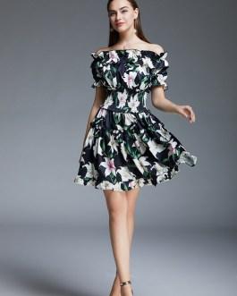 Runway Designer Lily Floral Print Short Dress
