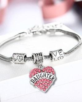 Tribute to Daughter Rhinestone Bracelet