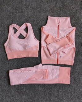 Fitness Long Sleeve Yoga Sport Gym Suit Sets