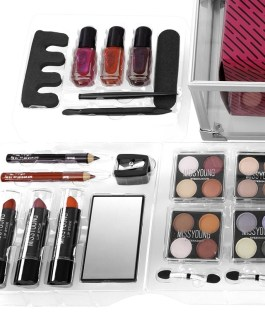Professional Full Suitcase Makeup Kit