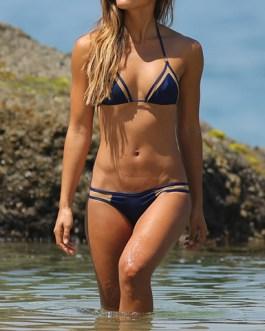 Sexy Double Straps Mesh Insert Skimpy Bikini
