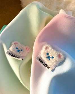 Chic Tie Dye Sweatshirt Embroidery Korean Fashion Tops