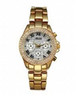 Classic Roman Numbers Fake Multiple Time Zones Quartz Wristwatch
