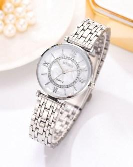 Fashion Diamond Mesh Steel Strap Quartz Wrist Watch