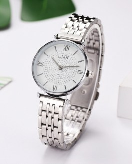 Fashion Diamond Mesh Steel Strap Wrist Watch