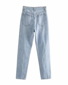Fashion Street Wear Hole Ripped Cowboy Pants