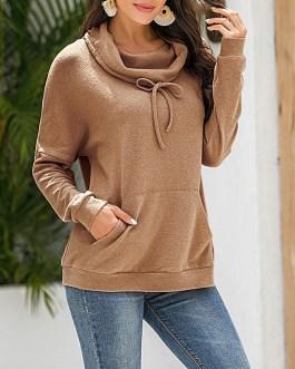 Faux Fleece Short Hoodies Sweatshirts