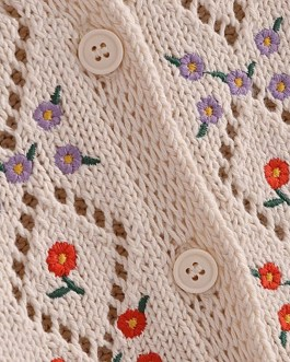 Weet Floral Embroidered Pullover Sweater