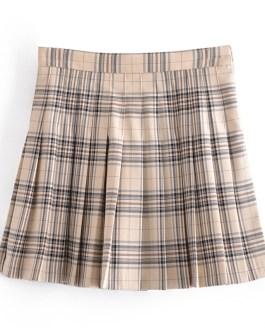 Casual Street Wear A Line Pleated Mini Skirts