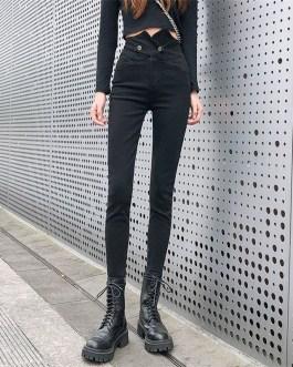 Casual Stretch Slim Pencil Jeans