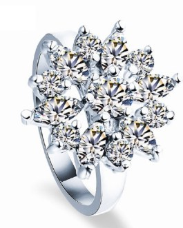 Fashion Luxury Crystal Engagement Ring