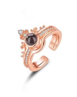 Fashion Punk Crown Wedding Ring