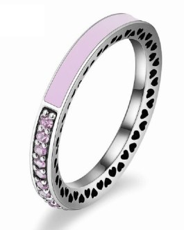 Fashion Radiant Hearts Crystal Rings
