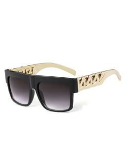 Flat Top Retro Square Sun Glasses