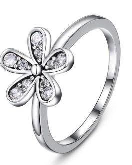 Flower Luxury Crystal Wedding Ring