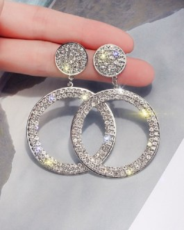 Korean Fashion Cute Rhinestone Earrings