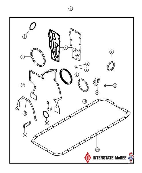 Lower Engine Kit Standard Thickness 2007.5-2012 Dodge