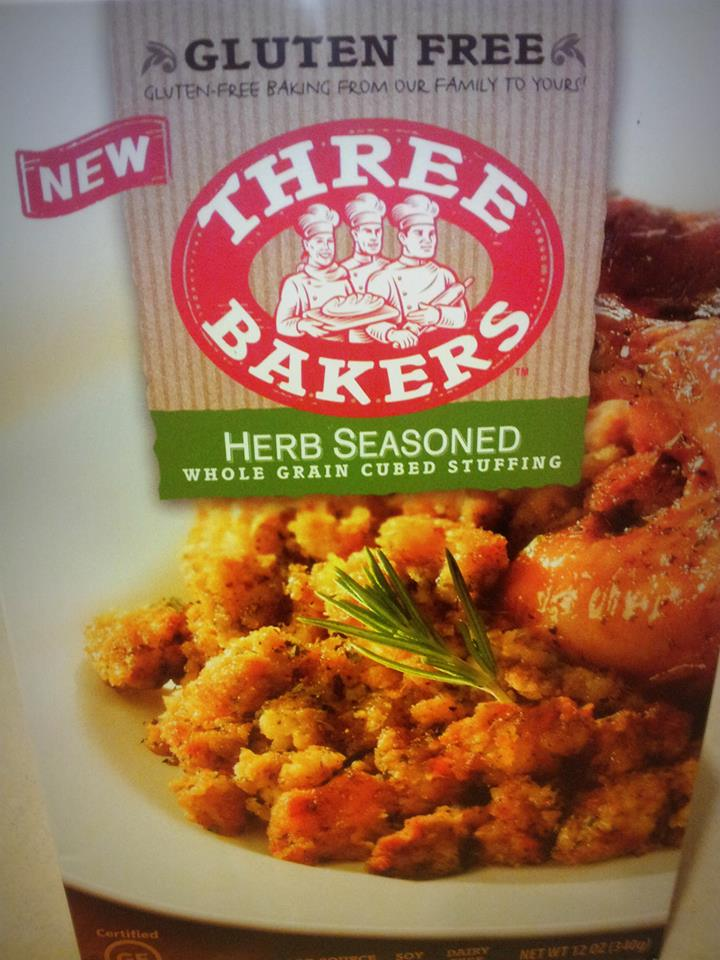 TWO boxes of Three Bakers Gluten-Free Herb-Seasoned Stuffing Mix!