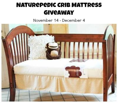 Naturepedic crib mattress-Giveaway