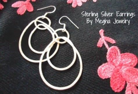 megha sterling silver earrings