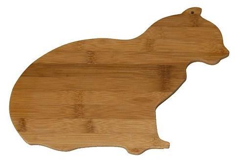 cat bamboo cutting board